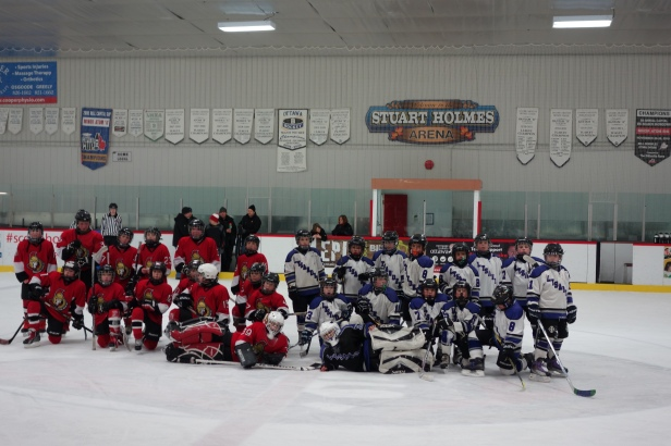 With my Hockey Team in Canada